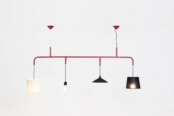 Crazy Vialattea Pendant Lamp Of 4 Different Parts