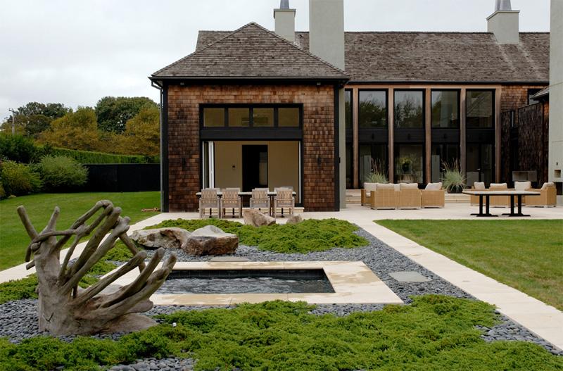 Cedar House With Creamy Interior Design
