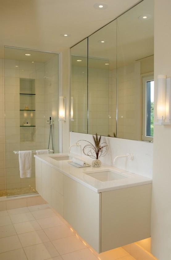 Cedar House With Creamy Interior Design - DigsDigs