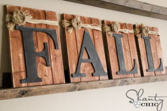 a rustic fall sign with burlap and black letters can be easily DIYed to spruce up indoor and outdoor spaces