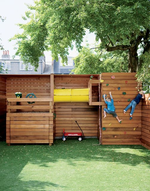 32 creative and fun outdoor kids play areas digsdigs. Black Bedroom Furniture Sets. Home Design Ideas