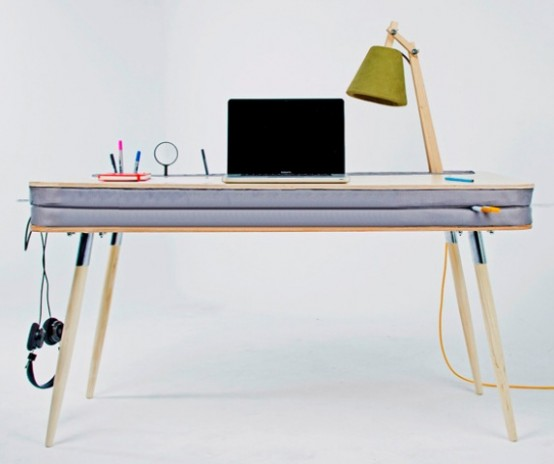 Creative And Funny Oxymoron Desk With A Soft Tabletop