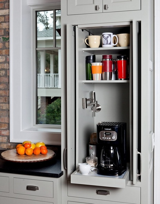 42 Creative Appliances Storage Ideas For Small Kitchens Digsdigs