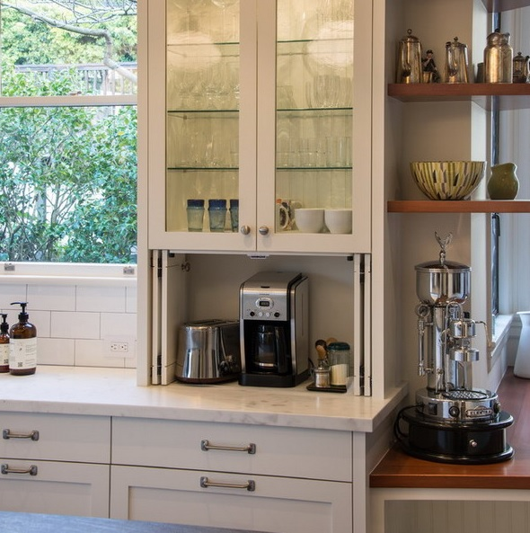 42 creative appliances storage ideas for small kitchens for Kitchen ideas storage