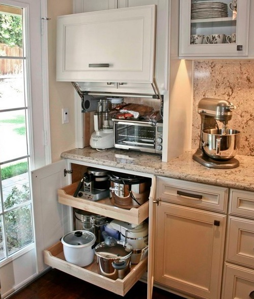 Creative Appliances Storage Ideas For Small Kitchens