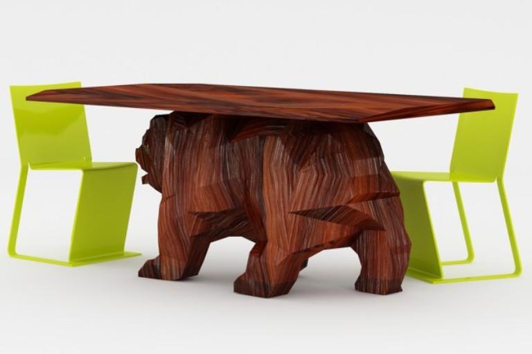 Creative Bear-Shaped Table