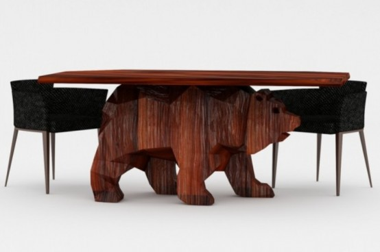 Creative Bear Shaped Table