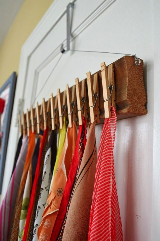 18 creative clothes storage solutions for small spaces digsdigs - Clever storage solutions small spaces style ...