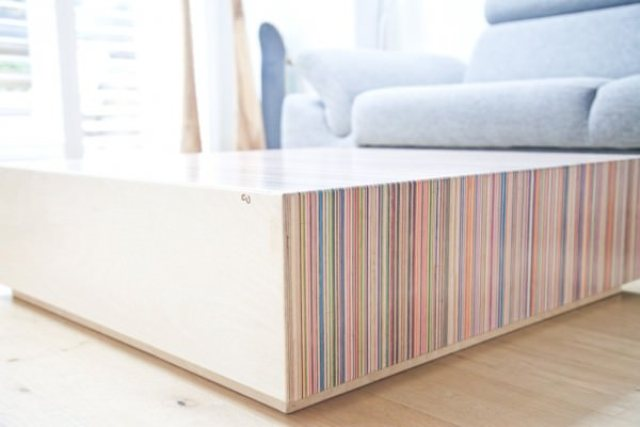 Picture Of creative coffee table from upcycled skateboard decks  3