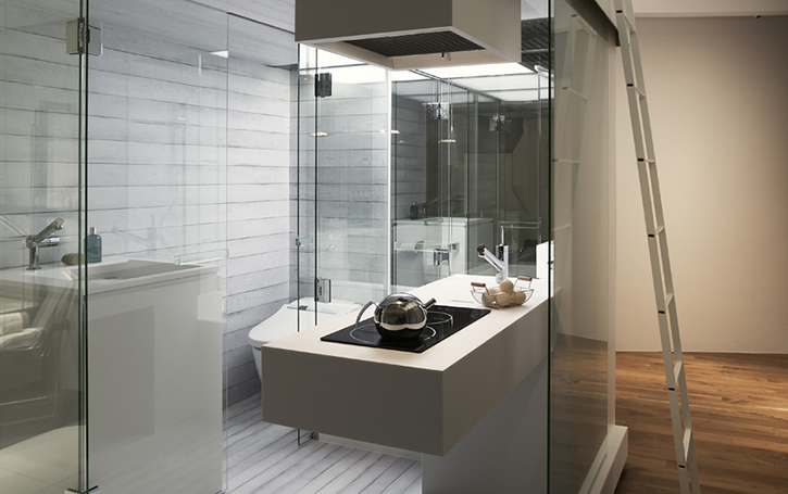 Functional And Compact Bathroom Solution For Small Apartment Subaco By Spiritual Mode Digsdigs