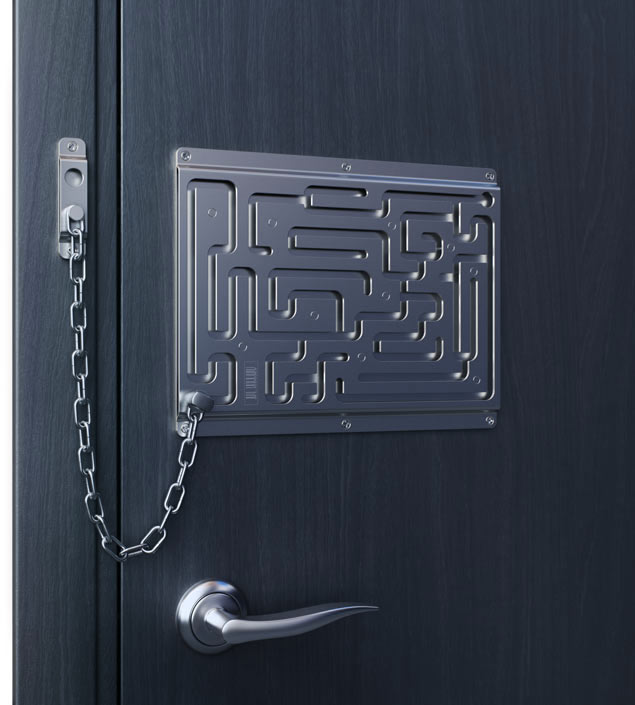 Creative door chain that is really safe digsdigs - How to open chain lock ...