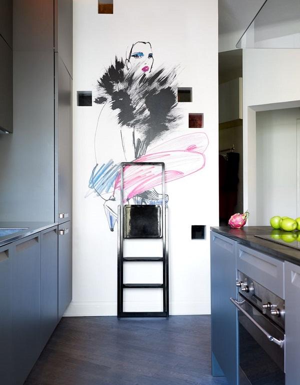 Creative Drawn Interior Design Elements