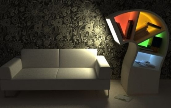 Creative Led Bookcase For Night Owls