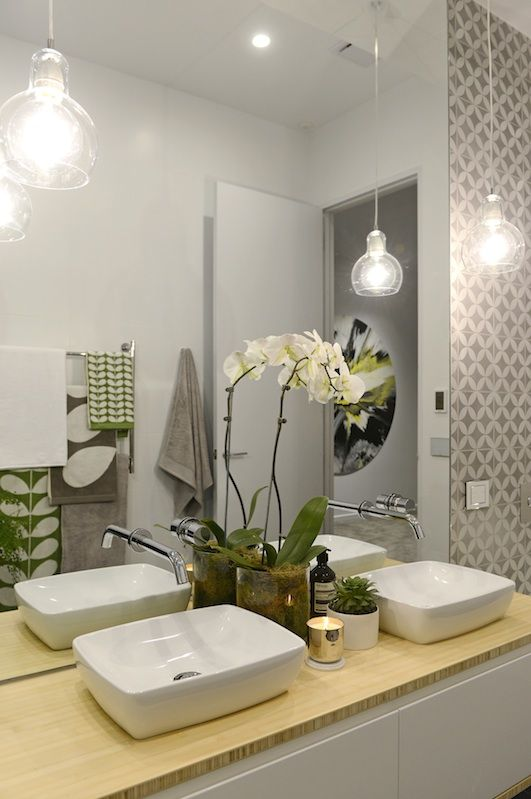 modern bathroom pendant lighting. Creative Modern Bathroom Lights Ideas You\u0027ll Love. MELBOURNE, AUSTRALIA - 24TH JULY 2014;Contestant Of The Block 2014 Reveal Apartment 6 Pendant Lighting Y