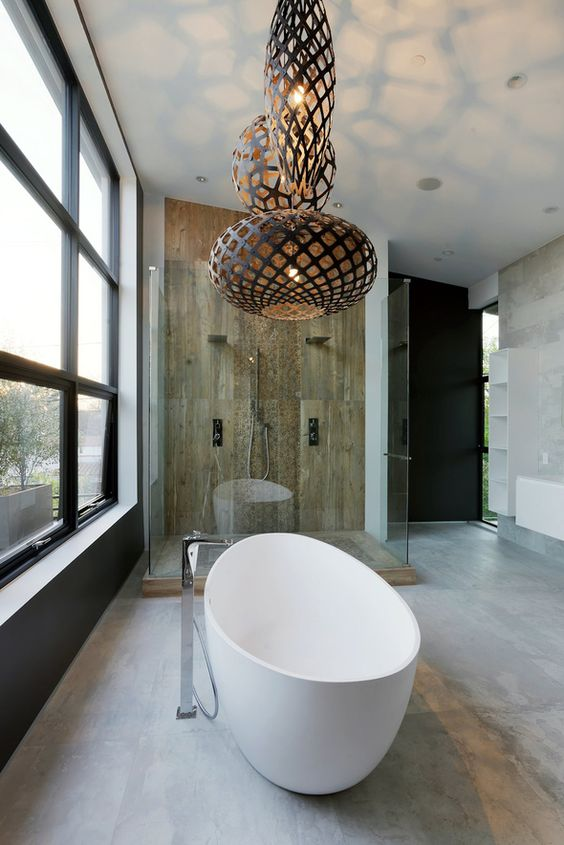 Attractive Bathroom Light Pendant Part - 13: Creative Modern Bathroom Lights Ideas Youu0027ll Love