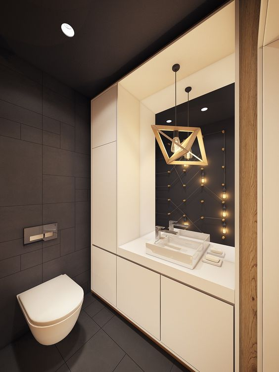 25 creative modern bathroom lights ideas you ll love digsdigs - Deco toilet ontwerp ...