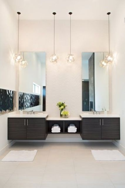 25 Creative Modern Bathroom Lights Ideas You Ll Love Digsdigs