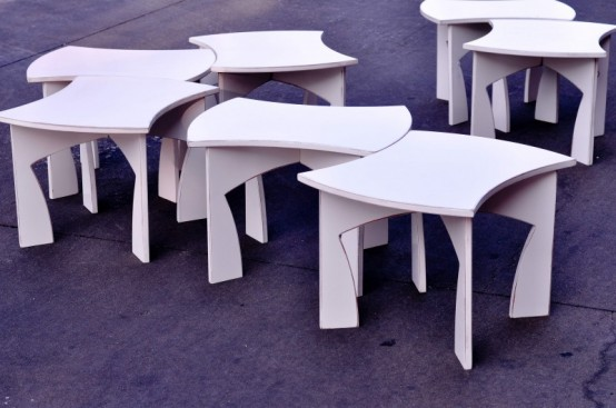 Creative Modular White Table