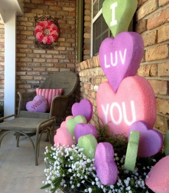 Home Design Ideas Cozy: 25 Creative Outdoor Valentine D Cor Ideas