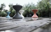Creative Patio Furniture Bells Side Table
