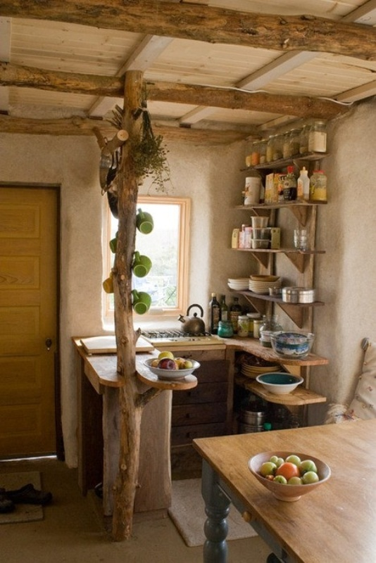 45 creative small kitchen design ideas digsdigs for Small cabin kitchen designs