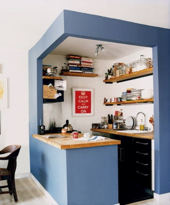 45 creative small kitchen design ideas digsdigs for Small dining area solutions