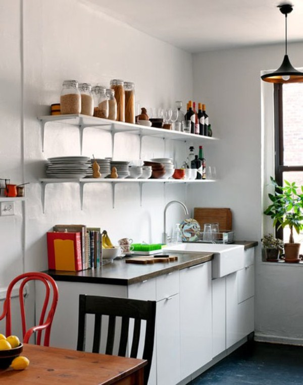 45 creative small kitchen design ideas digsdigs Small kitchen design pictures ideas
