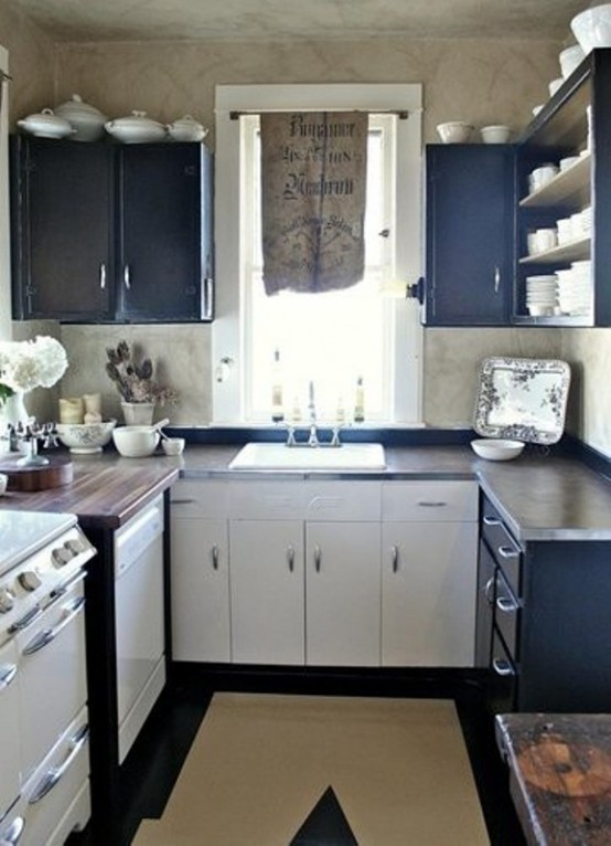45 creative small kitchen design ideas digsdigs - Kitchen designs for small kitchens ...