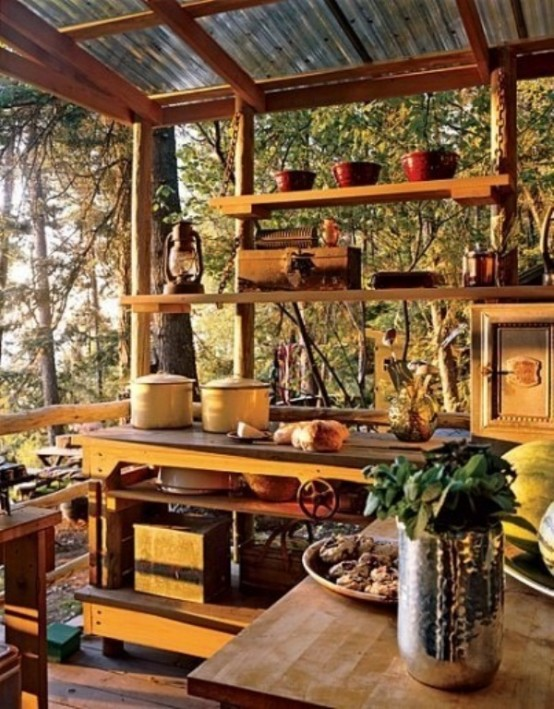 45 creative small kitchen design ideas digsdigs for Outdoor kitchen ideas small yard