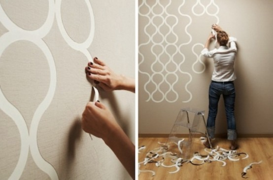 Creative Tear Off Wallpaper For Customizable Design