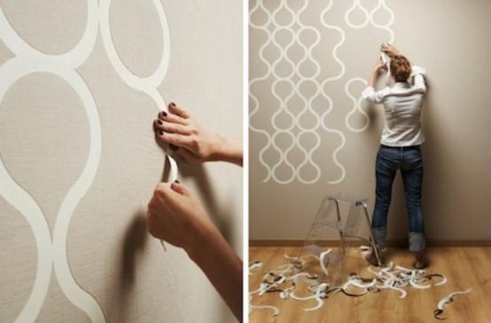 Creative Tear Off Wallpaper For Customizable Design