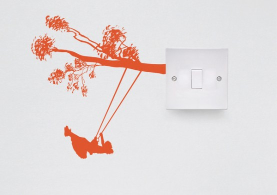 Creative Vinyl Switch Outlets Decorations