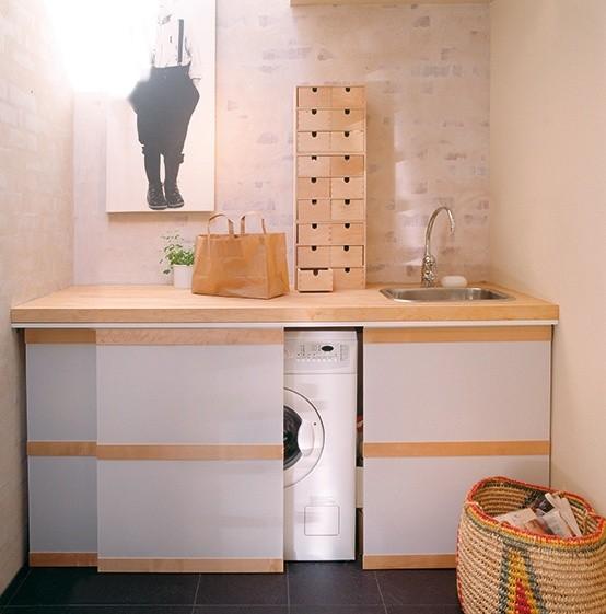 Washing Machine In Kitchen Design: 31 Creative Ways To Hide A Washing Machine In Your Home
