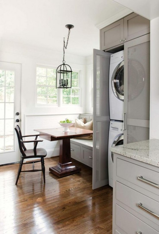 With transparent doors you could make your appliances a part of decor.