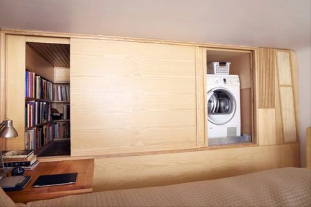 Picture Of creative ways to hide a washing machine in your home  15