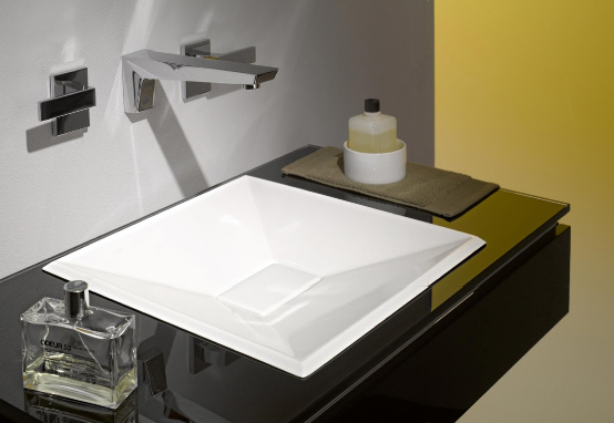 Crystalline Glassed Steel Basins from Alape