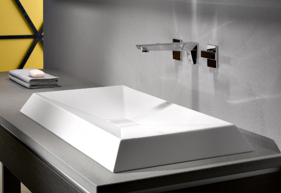 Crystalline Glassed Steel Basin From Alape