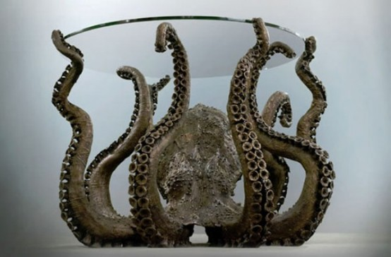 Curious Octopus Table For Those Who Dare - Curious Octopus Coffee Table For Those Who Dare - DigsDigs