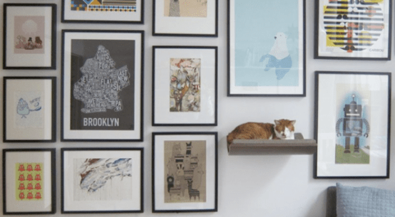 Curve Wall Amounted Cat Bed