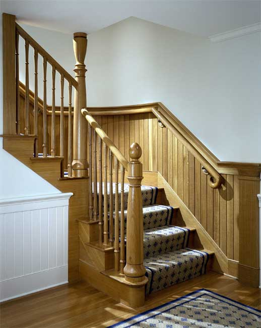 Curved House Design With Extensive Interior Woodwork