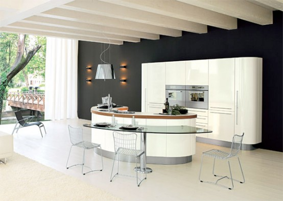 Curved KItchen Island from Record Cucine