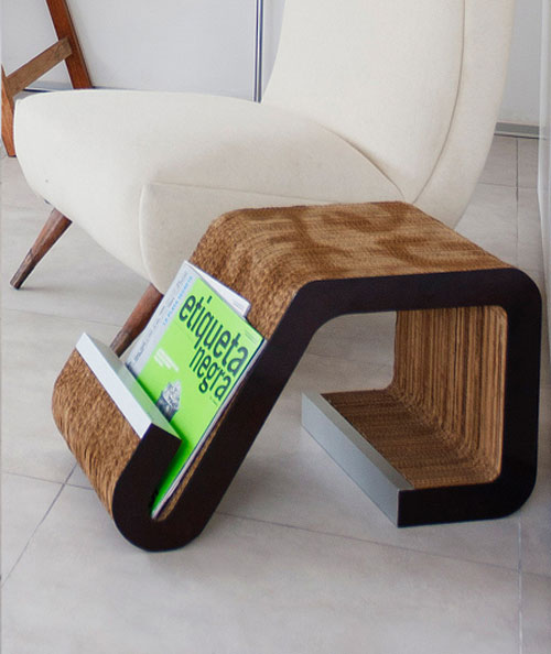 Curved Magazine Rack