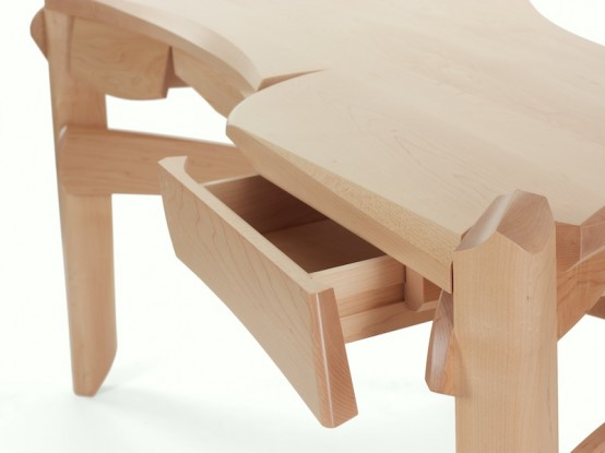 Curved Maple Desk
