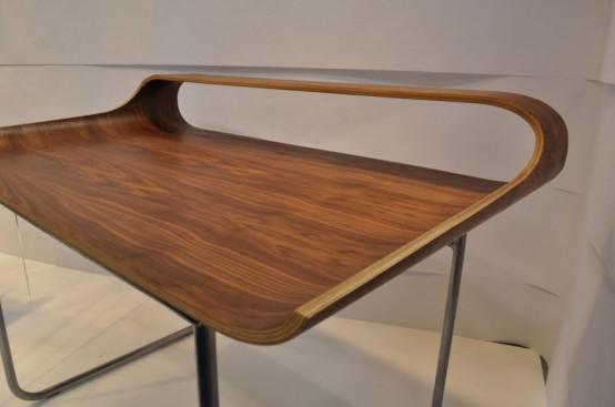 Curved Minimalist Desk