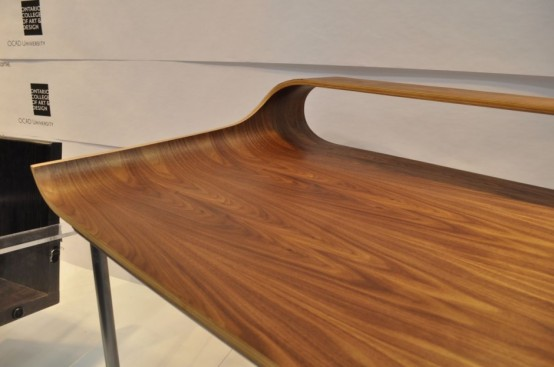 Curved Minimalist Desk