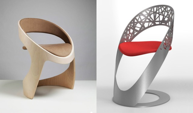 Curvy Chairs And Stools Of Different Materials By Martz
