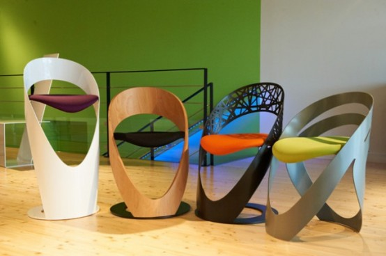 Curvy Chairs And Stools Of Different Materials By Martz Edition ...