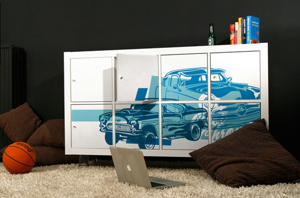 customized ikea furniture with easy to apply prints digsdigs