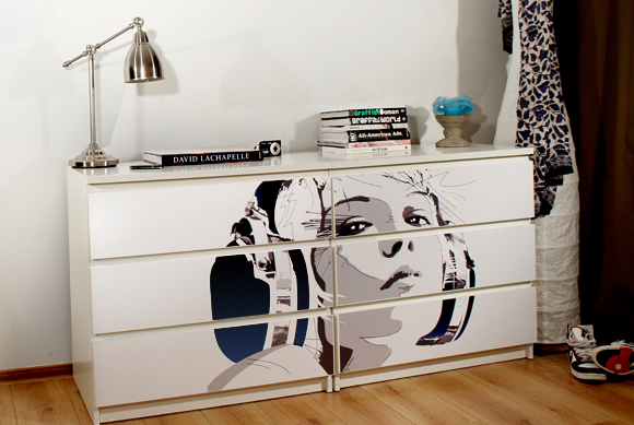 Customized ikea furniture with easy to apply prints digsdigs - Transformar muebles ikea ...