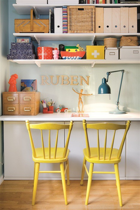 Cute And Colorful Home Office
